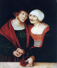 Amorous Old Woman and Young Man
