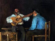 Hombres Tocando la Guitarra - Luis Graner