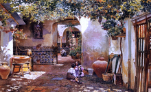Patio with Children - Manuel Garcia Y Rodriguez