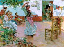 Gitanas en el Patio - Manuel Ruiz Guerrero