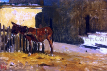 A Burro on the Patio - Mariano Fortuny Y Marsal