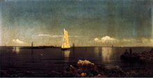 A Summer Afternoon (also known as Boston Harbor) - Martin Johnson Heade
