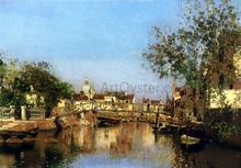 A Canal near the Isle of Giudecca, Il Redentore in the Distance - Martin Rico Y Ortega