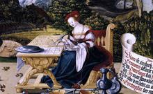 Painted tabletop for Erasmus Stedelin (detail) - Martin Schaffner