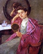 Antoinette at Her Dressing Table - Mary Cassatt