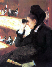 At the Francais, a Sketch (also known as At the Opera) - Mary Cassatt