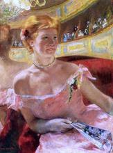Woman in a Loge - Mary Cassatt