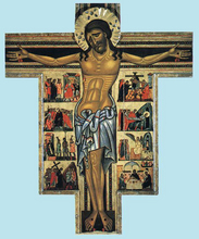 Crucifix with scenes from Calvary