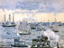 Boston Harbor - Maurice Prendergast