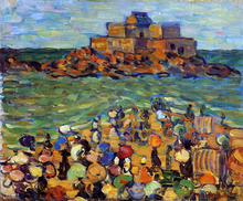 Chateaubriand's Tomb, St Malo (also known as St. Malo - Chateaubriand's Tomb) - Maurice Prendergast