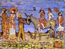 Donkey Rider - Maurice Prendergast