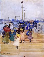 South Boston Pier (also known as Atlantic City Pier) - Maurice Prendergast