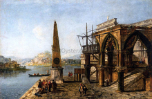 Capriccio with Gothic Building and Obelisk - Michele Marieschi
