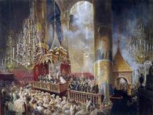 Coronation of Alexander II - Mihaly Zichy