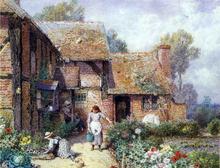 An Afternoon in the Garden - Myles Birket Foster