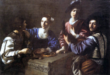 Drinking Party with a Lute Player