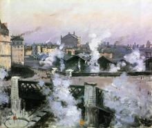 The Pont de l'Europe and Gare Saint-Lazare