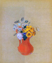 Flowers in a Red Pitcher - Odilon Redon