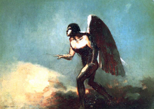 The Winged Man (also known as The Fallen Angel) - Odilon Redon