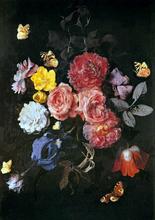 Vase of Flowers with Butterflies - Otto Marseus Van Schrieck