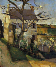 House and Tree, the Hermitage, Pontoise - Paul Cezanne