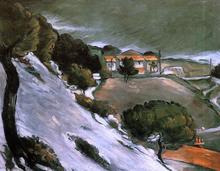 L'Estaque under Snow - Paul Cezanne