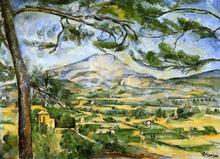 Mont Sainte-Victoire (Courtauld) - Paul Cezanne