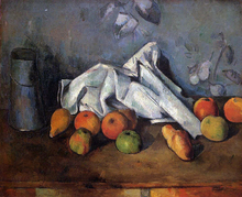 A Still Life with Milk Can and Apples