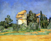 A Pigeon Tower at Bellevue - Paul Cezanne