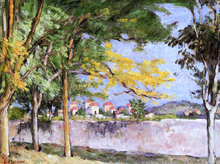 The Road (also known as The Ancient Wall) - Paul Cezanne