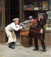 Teasing the Monkey - Paul Charles Chocarne-Moreau