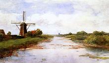 A Windmill Near Abcoude - Paul Constantine Gabriel