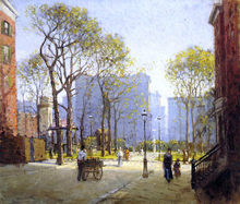 Late Afternoon, Washington Square - Paul Cornoyer