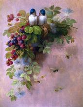 Birds, Bees and Berries - Raoul Paul Maucherat De Longpre
