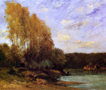 Early Autumn on a Lake