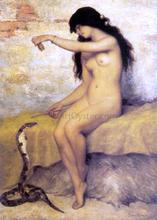 A Nude Snake Charmer