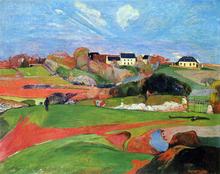 Fields at le Pouldu - Paul Gauguin