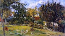 Geese in the Meadow - Paul Gauguin