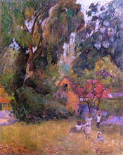 Huts under the Trees - Paul Gauguin