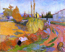 A Landscape, Farmhouse in Arles - Paul Gauguin
