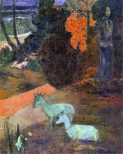 Landscape with Two Goats - Paul Gauguin