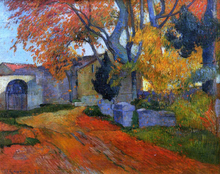A Lane at Alchamps, Arles