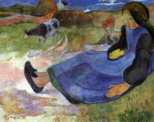 A Seated Breton Girl