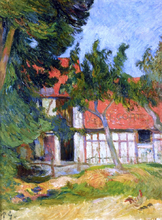 Stable near Dieppe - Paul Gauguin
