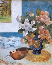 Still Life with Chinese Peonies and Mandolin - Paul Gauguin