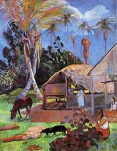 The Black Pigs - Paul Gauguin