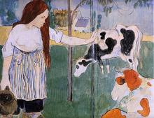 A Milkmaid - Paul Gauguin