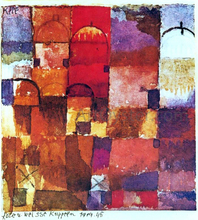 Rote und weisse Kuppeln (also known as Red and White Cupolas) - Paul Klee