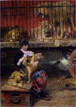 Feeding The Cubs - Paul Wilhelm Meyerheim