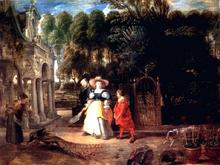 Rubens In His Garden With Helena Fourment - Peter Paul Rubens